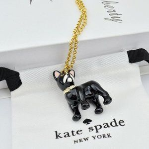 Kate Spade Enamel Glaze Zircon Bulldog Necklace